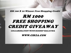 Giveaway RM1000 Shopping Credit SGshop Malaysia By Cikzacom