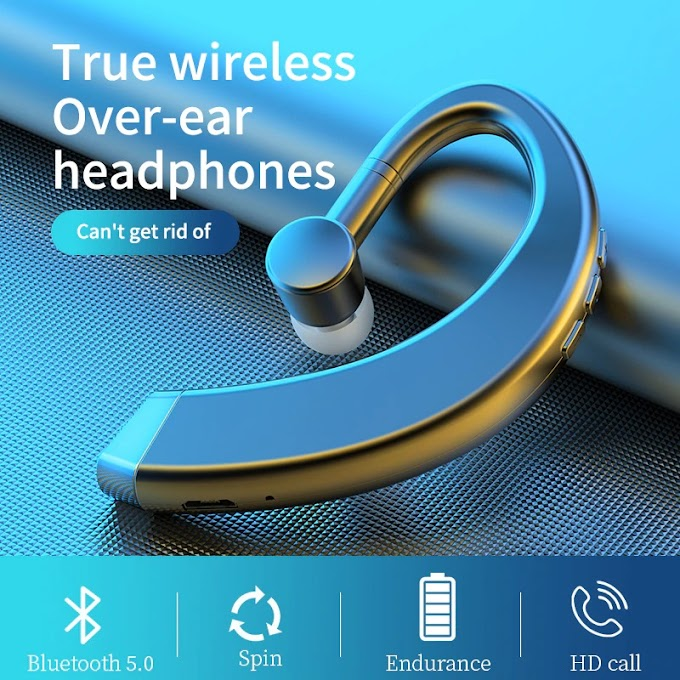 Single Ear Bluetooth Earphone Stereo Bass