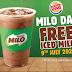 《优惠每天有 Promotion》只限2020年7月9日这一天的优惠! MILO在Burger King有任何消费就有Free Iced Milo!