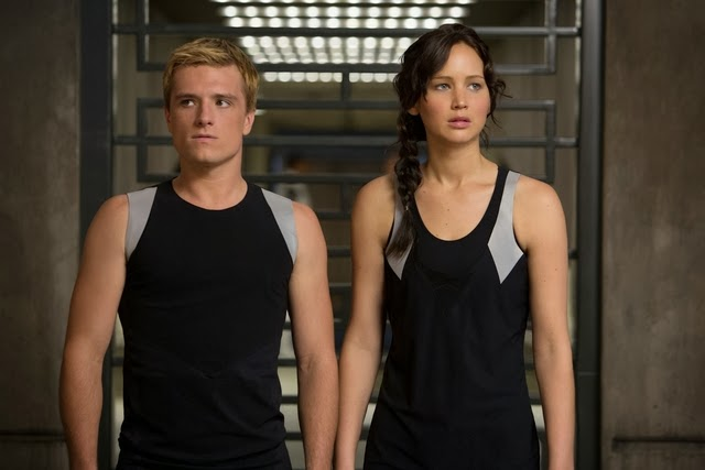 Peeta and Katniss Entering the New Training Facility