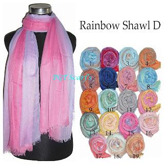 pashmina pelangi rainbow grosir murah