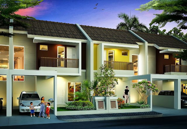 3D Rumah Tinggal Design Tarik Garis
