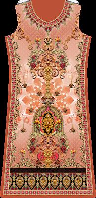 Ladies Orange Box Kurti Design Front 2595