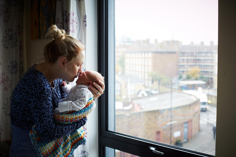 portraits of women on the first day of their maternity