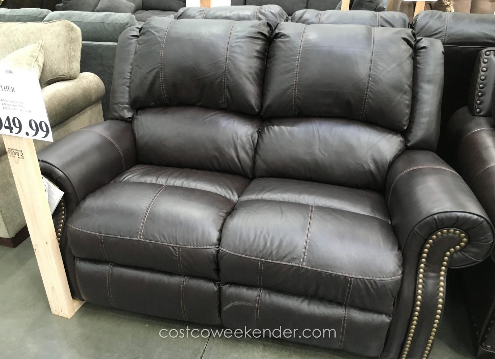 Berkline Reclining Leather Loveseat Costco Weekender