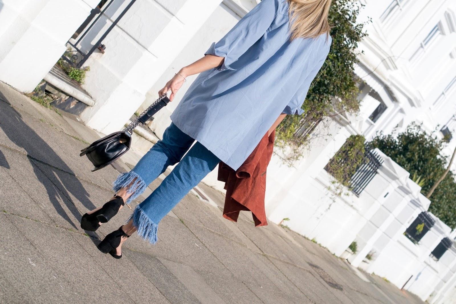 f3b8af6bcfd Denim Trend  Frayed Hem Jeans