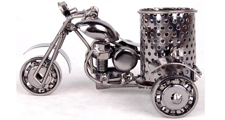 motorcycle pencil and pen holder
