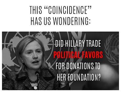 this has us wondering: Did Hillary Trade Political favors for Donations to Hr Foundation