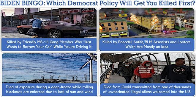 BIDEN BINGO: Which Democrat Policy Will Get You Killed First?
