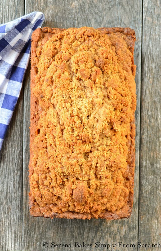 Zucchini Bread With Brown Sugar Crumb recipe from Serena Bakes Simply From Scratch.