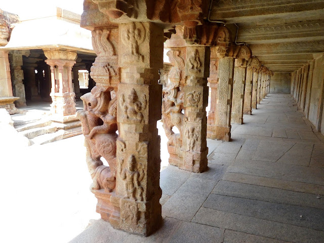 Passage along the inner boundary wall of the Bhoga Nandeeshwara Temple, Karnataka