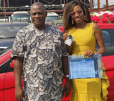 Photos Khafi takes delivery Innoson car she won in the big brother naija house
