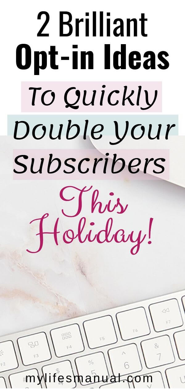 Increase your email subscribers this holiday
