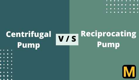 Differentiate between Centrifugal pump and Recipocating pump?