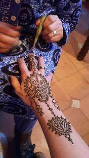 Tatuaggio all'henné, disegno finito anche per me