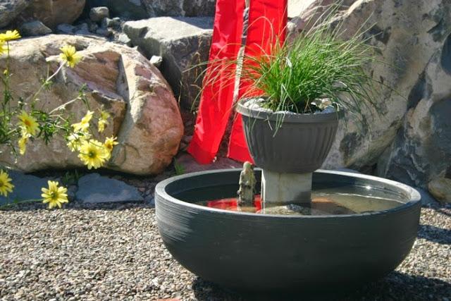 Garden decor with pond