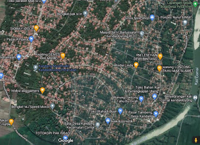 Peta desa Kandang Comal Pemalang
