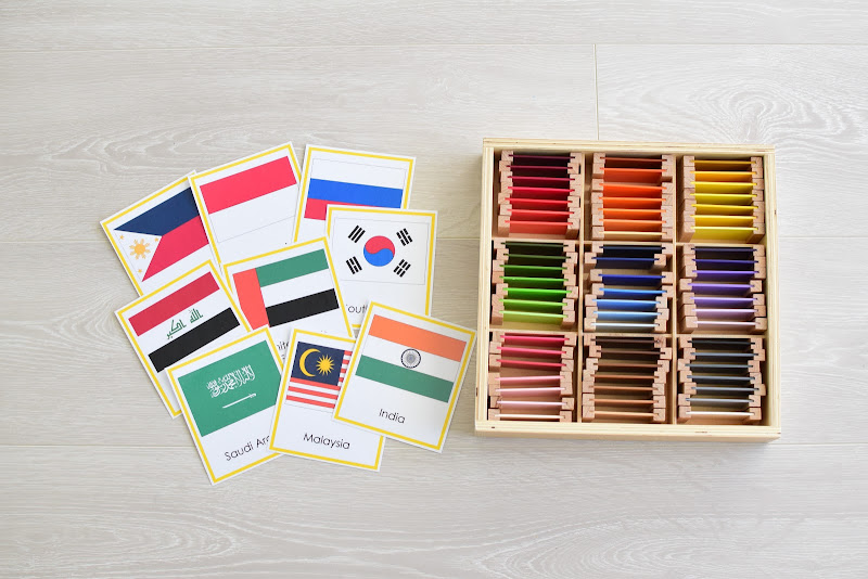 Asia Study for Kids: Flags and their colors