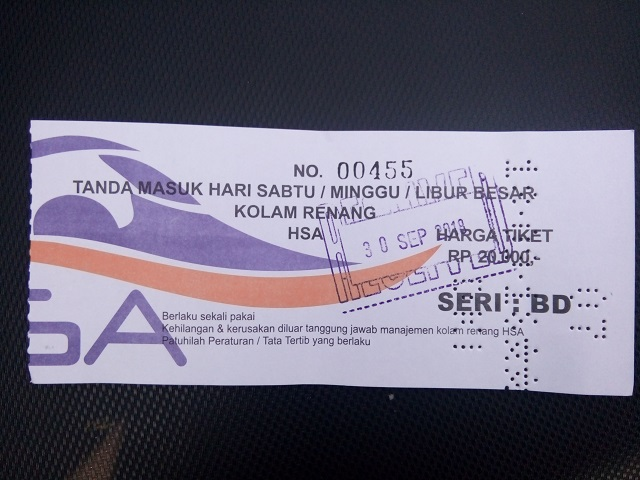Kolam Renang HS Agung tiket