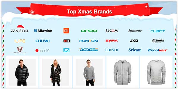 Descontos de Natal no Site Chinês Gearbest Marcas