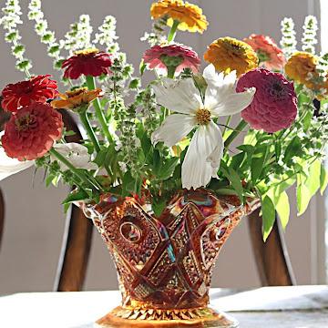 Beautiful  Garden Bouquets With Mrs. Burns' Lemon Basil