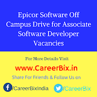 Epicor Software Off Campus Drive for Associate Software Developer Vacancies