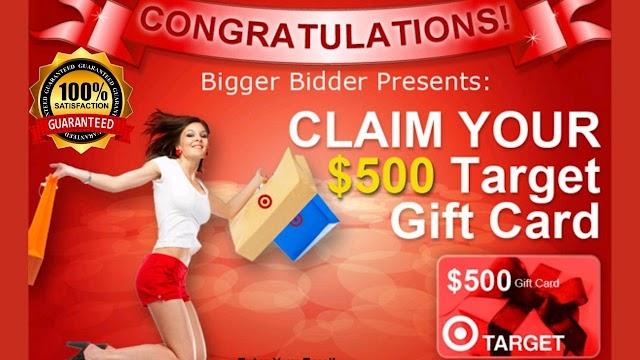 Free target gift card (500$ )