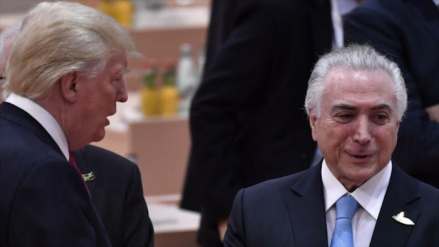 Temer revela que Trump le preguntó cómo intervenir en Venezuela