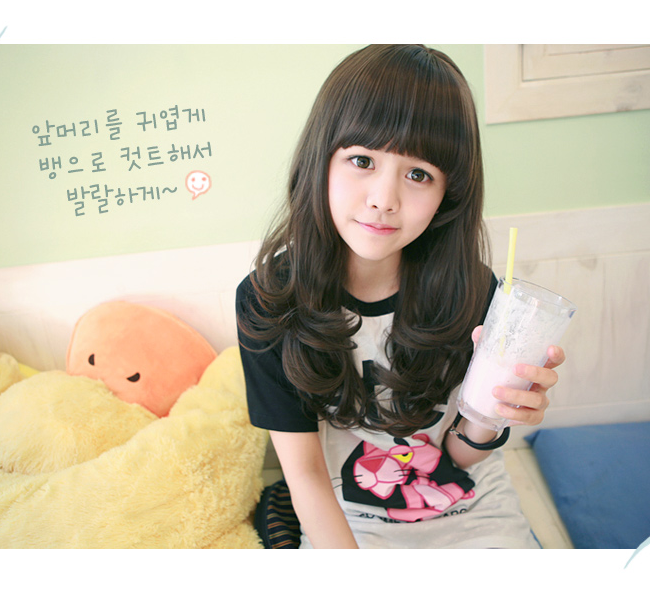 Korean Fashion Beauty Wig - Loveme Color Cinnamon Brown Model 3
