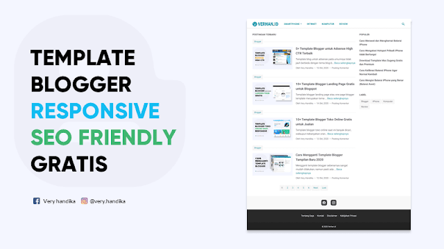 template blog seo friendly responsive gratis