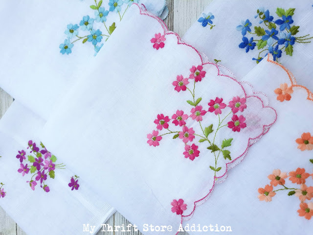 vintage embroidered hankies