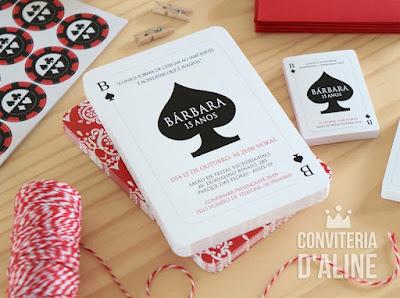 convite carta baralho las vegas casino