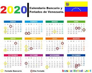 Lunes-bancarios-Días-festivos-de-Venezuela-en-el-2020-Días-feriados-de-Venezuela-en-el-2020-Calendario-bancario-de-Venezuela-2020-Calendario-SUDEBAN-2020