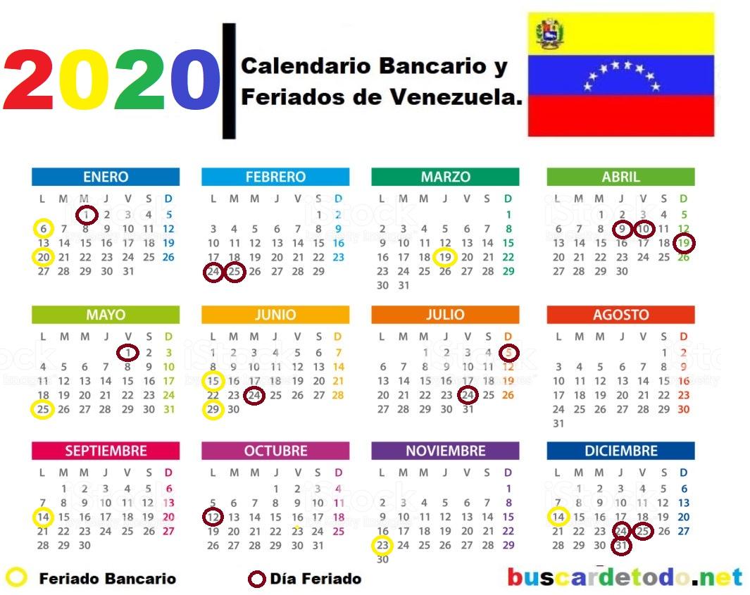 Calendario oficial bancario de Sudeban. Lunes bancarios. Días festivos de Venezuela en el 2020. Días feriados de Venezuela en el 2020. Calendario bancario de Venezuela 2020 Lunes-bancarios-Días-festivos-de-Venezuela-en-el-2020-Días-feriados-de-Venezuela-en-el-2020-Calendario-bancario-de-Venezuela-2020-Calendario-SUDEBAN-2020
