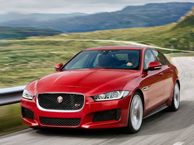 2016 Jaguar XF Red view Hd Wallpaper