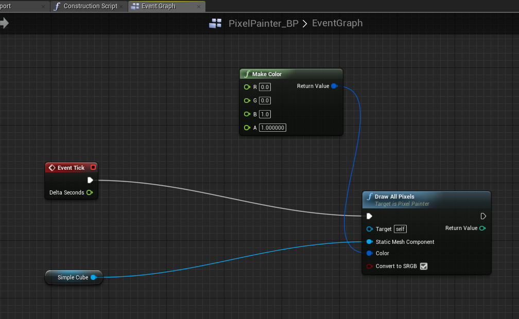 Desire paths in Unreal Engine 4: Vertex painting on meshes