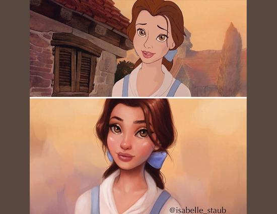 Personagens Desenhos Isabelle Staub - Bela de A Bela e a Fera