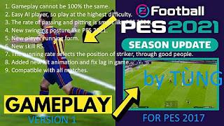 New Version Mod Gameplay PES 2021 - PES 2017