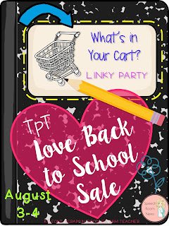 Back to School Sale SLP Linky Party