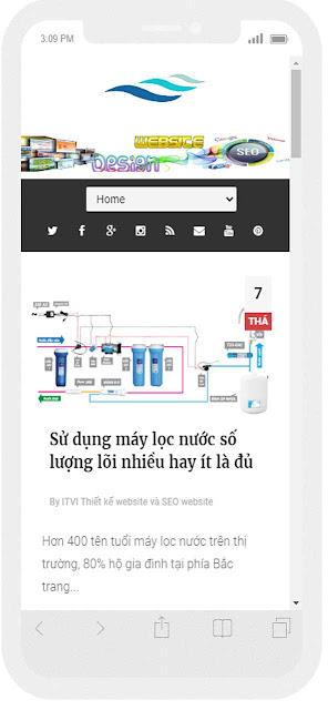 Mẫu website Nước tinh khiết giao diện điện thoại