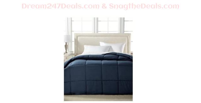 Sale $19.99  Lightweight Microfiber Color Down Alternative King Comforter, Hypoallergenic Polyester Fiberfill