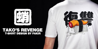 Tako's Revenge Limited Edition T-Shirt by Fakir x Kidrobot