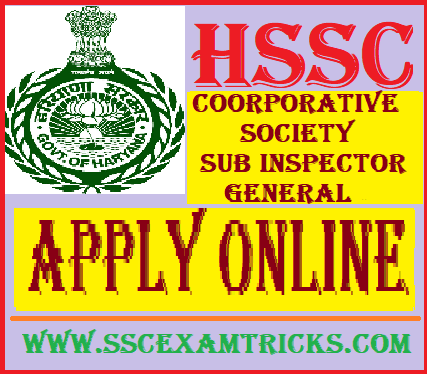 HSSC Sub Inspector SI General Recruitment