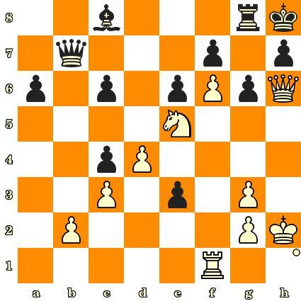 Les Blancs jouent et matent en 3 coups - Orchard vs Constant Burille, 1893