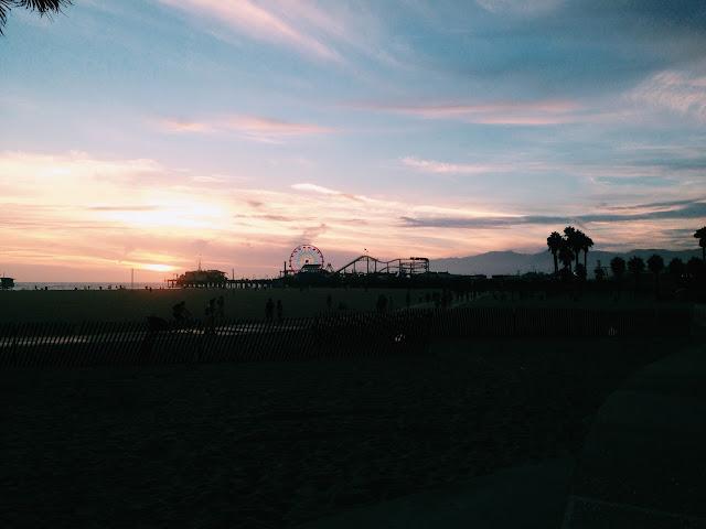 Coucher de soleil sur Santa Monica