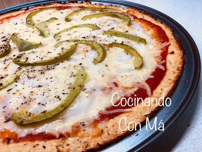 pizza keto de coliflor