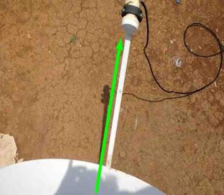 Mencari Arah Satelit Parabola Mini Ku-Band dengan DVB Finder