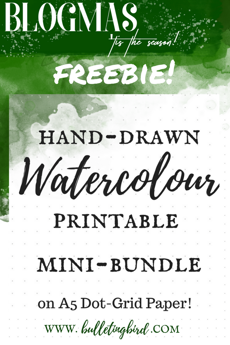 A FREE Printable Mini-Bundle For Your Bullet Journal On A5 Dot Grid Paper