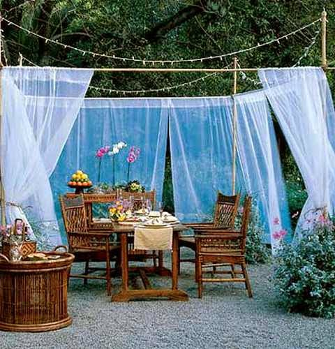 20 DIY Outdoor Curtains, Sunshades and Canopy Designs for ...