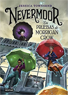 tapa libro nevermoore las pruebas de morrigan crow